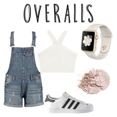"""""""Untitled #31"""" by hillarygiselle ❤ liked on Polyvore featuring BCBGMAXAZRIA, adidas, TrickyTrend and overalls"""