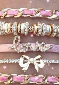 Pink arm candy!!! Love the bling!!!   #wink2link   @Tamara Walker Robinson Women Inkorporated