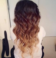 Dip dye with natural colors <3