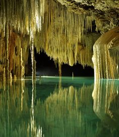visitheworld:  Exploring the amazing underground rivers of Riviera Maya, Rio Secreto, Mexico (by Eugene Kaspersky).