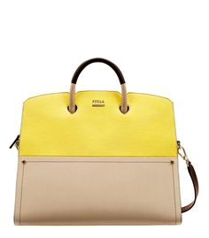 Furla Yellow Polaris Tote Spring fever? These sunny looks are the cure. http://shop.harpersbazaar.com/new-arrivals