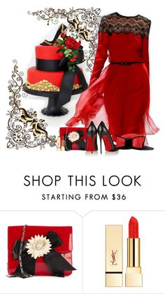 """""""Have your Cake and eat it Too"""" by flowerchild805 on Polyvore featuring Tadashi Shoji, Moschino, PUR and Christian Louboutin"""