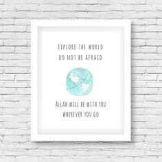 Religious Quotes, Islamic Quotes, Wall Art Decor, Nursery Decor, Islamic Wall Art, Kids Decor, Ramadan, Kids Room, Digital