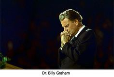 Billy Graham - I saw him preach in Charlotte NC what an honor!