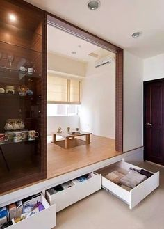 Create a small tea room! Small Space Interior Design, Japanese Interior Design, Hall Furniture, Furniture Removal, Tatami Room, Minimalist Room, Japanese House, Interior Exterior, Small Spaces
