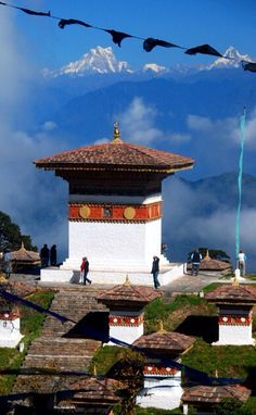 Stupas at Dochula Pass, Bhutan #adventuretime #kiwicollection