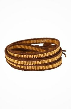 """Chan Luu 32"""" Seed Bead Duracoat Galvanized Yellow Gold/Natural Brown Bracelet #accessories  #jewelry  #bracelets  https://www.heeyy.com/chan-luu-32-seed-bead-duracoat-galvanized-yellow-goldnatural-brown-bracelet-duracoat-galvanized-yellow-gold-natural-brown/"""