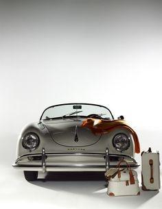 Posche 356. Travel ready.