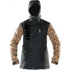 Neff Wonder Womens Snowboard Jacket   Cheetah #GetEternalGear