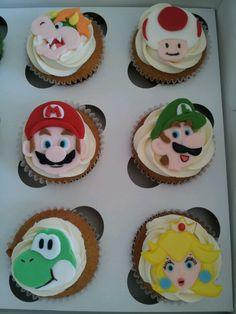 Mario bros cupcakes Mario Bros, 4th Birthday, Cupcakes, Desserts, Food, Meal, Cupcake, Deserts, Essen