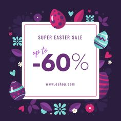 This Easter, have your campaign prepared in no time! Adapt this design with simple drag-and-drop moves, in the Bannersnack editor.  Change animation effects, colors and text, and obtain the perfect template for your brand's Easter campaign.
