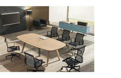 Table de Réunion / Conférence RAIL Design Perin & Topan Bralco - 8 places / Chêne naturel - Mobilier Sodezign