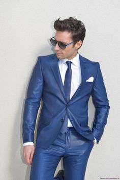 smoking mariage slim fit de fursac bleu carbonne costume de mari marseille greenwich mridien - Smoking Hugo Boss Mariage