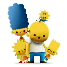 Tribute to the Simpsons on Behance Simpsons Funny, The Simpsons Movie, Simpsons Art, Cartoon Movies, Cute Cartoon, Cartoon Art, Cartoon Characters, Cartoon Wallpaper Iphone, Kawaii Wallpaper