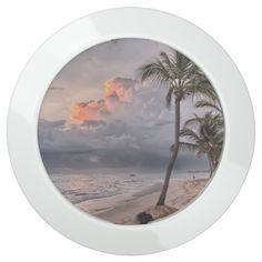 Sunset beach water USB charging station -  Beach water and coconut trees , with Sunset Cloudy Weather . Paradise!        ... #custom #beach themed #gift #limitlessinnovation  chargehub design by #ShinyLight_Designs - #limitlessinnovation  #chargehub #beach #cloudysky #paradise #coconuttrees #bluewater #relax #bestbeach #dream #sandybeach #tropical