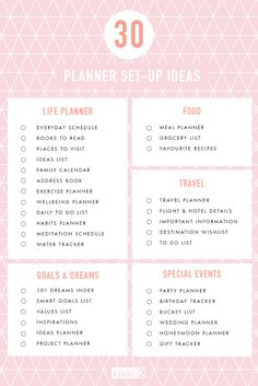 Be inspired to organise your planner with these 30 planner set up ideas!