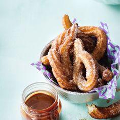 Churrot eli munkkitangot | Maku Churro, Onion Rings, Smoothies, French Toast, Baking, Breakfast, Ethnic Recipes, Sweet Stuff, Food