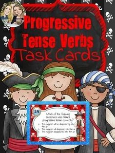 What's better than a colorful, fun, no prep activity to help your students master Progressive Tense Verbs? This task card activity is perfect for engaging students!This Progressive Tense Verb Task Card Bundle is ideal for centers, classroom scoots, or small group instruction.