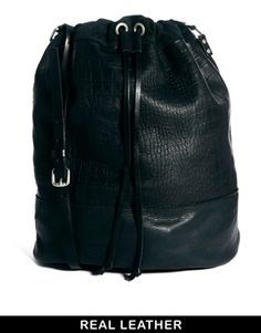 Pieces Daria Leather Duffle Bag