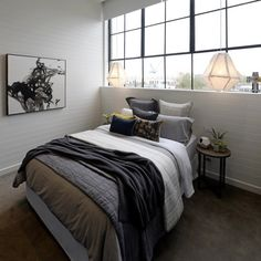10 The Block Glasshouse 2019 – Guest bedrooms - House & Living Guest Bedroom Decor, Guest Bedrooms, Bedroom Sets, Home Bedroom, The Block Glasshouse, Asian Bedroom, Modern Bedroom Furniture, Deco Design, Glass House