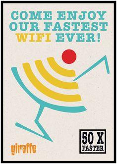 Wifi Posters - Giraffe Restaurant on Behance