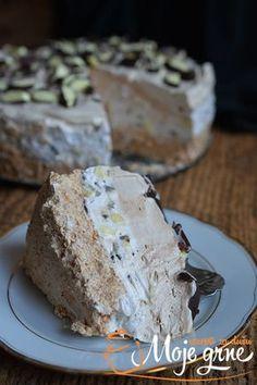 Torta Grčki sladoled - My site Cookie Desserts, Sweet Desserts, Sweet Recipes, Cookie Recipes, Delicious Desserts, Dessert Recipes, Torte Recepti, Kolaci I Torte, Brze Torte