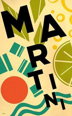 Vintage Poster - Martini Cocktail Drink