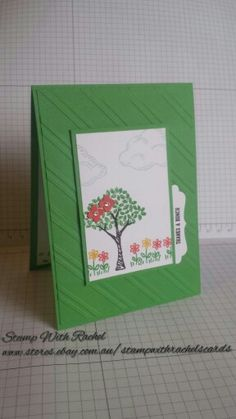 Stampin up sprinkles of life stampset, cucumber crush in color, thanks a bunch. Stamp with Rachel