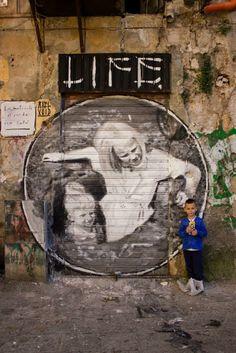 "Axel Void ""Life"" New Mural In Palermo, Italy StreetArtNews"