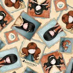 - Gorjuss Heartfelt Playful Portraits Natural By By Suzanne Woolcott, Cotton & Garden Lynette Anderson, Santoro London, Trend Fabrics, Dressmaking Fabric, Sewing For Kids, Sewing Ideas, Autumn Wedding, Fabric Online, Fabric Crafts
