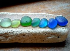 COLOURS OF THE SEA! SCOTTISH SEA GLASS by ARTISANNE, via Flickr