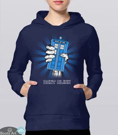 """Don't Blink"" Doctor Who Angels Hoodie 