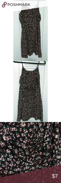 Laced back sun dress Flower print sun dress with lace on the back to expand or ttighten as needed Dresses