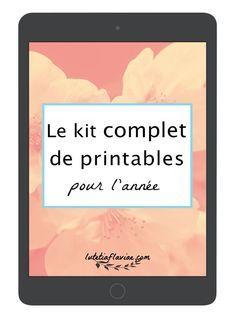 Le kit complet de printables pour l'année comprend 60+ listes pour s'organiser et profiter de chaque saison à télécharger gratuitement sur lutetiaflaviae.com