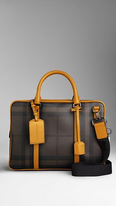 Smoked Check Briefcase | Burberry. She's soo sleek and clean. I think I'll name her Saige.