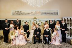 Twin Oaks Garden Estate Wedding Photos | San Diego Wedding | Rainy Day Wedding | Bridal Party | Pink Dresses | Black Suits | Jessica Van of France Photographers