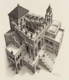 He was dismissed by the art world and venerated by mathematicians … he rejected both Mick Jagger's and Stanley Kubrick's attempts to schmooze him. So who was the mysterious MC Escher, master of illusion? Op Art, Escher Art, Penrose, Graphic Artist, Perspective, Dutch Artists, Illusion Art, Pictures, Art World