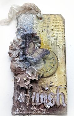 Shimmerz Paints: Mixed Media Tag by Astrid