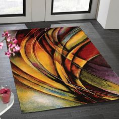 Impressionist rugs are a bright and beautiful collection with artist inspired designs.