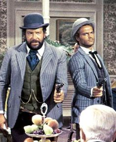 Bud Spencer and Terence Hill Bud Spencer Terence Hill, Mode Country, Jeanne Crain, Mario, Anthony Perkins, Gina Lollobrigida, Angela Lansbury, Kirk Douglas, Laurel And Hardy