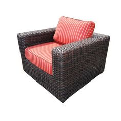 Teva Furniture Santa Monica Arm Chair with Cushions Fabric: Brick