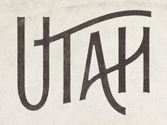 Utah by Simon Walker. Thin font. Love the way the letters overlap.