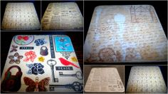 Add some vintage charm to your table-tops with these handmade Memory Lane coasters. SOLD OUT.