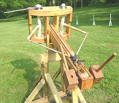 Cross bows were also often used, with large sturdy arrows. They also have very good accuracy.