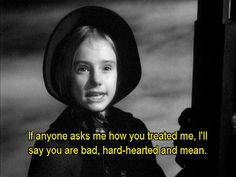 Peggy Ann Garner, Jane Eyre as a Child - Jane Eyre directed Robert Stevenson by (1943) #charlottebronte #fanart