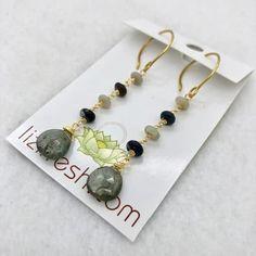Aqua Opal Earrings