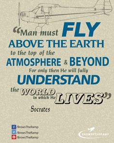 Socrates Quote www.browsetheramp.com #aviation #avgeek