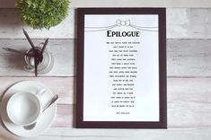 Epilogue by Ms Moem - short wedding poem  'That this pair stuck together for all of their days' 💖   You can buy a copy of this lovely romantic wedding poem by heading through to etsy.  I can't wait to hear from you if you choose order this poem! It will mean so much to me! Wedding Poems, You Poem, I Choose You, Printable Quotes, As You Like, Paper Size, Word Art, Big Day, Printables