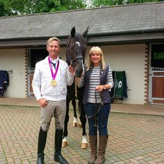 Spanish Riding School Live UK host Nicki Chapman looking great with Carl Hester MBE. We can't wait to have them join us on Tour in the UK