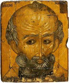 Nikola (Saint Nicolas). Palekh icon. XVII century. The State Museum of Palekh Art